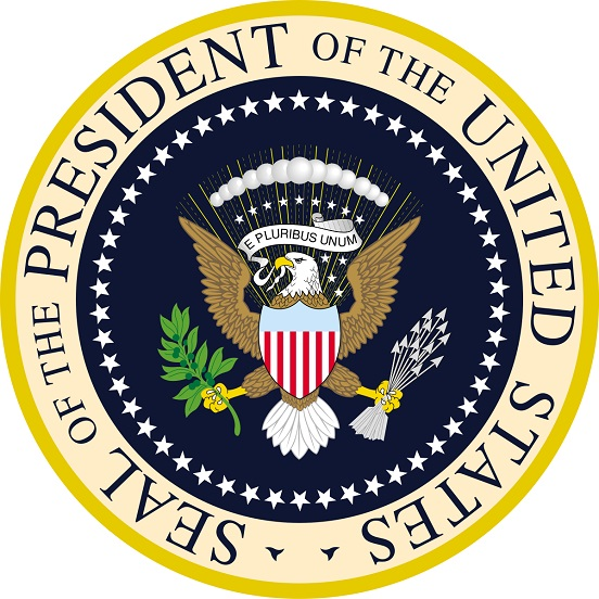 Seal of the President of the United States side by side.jpg